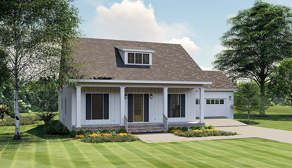 Bungalow Cottage Country Elevation of Plan 64594