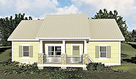 Bungalow , Cottage , Country House Plan 64595 with 3 Beds, 2 Baths Elevation