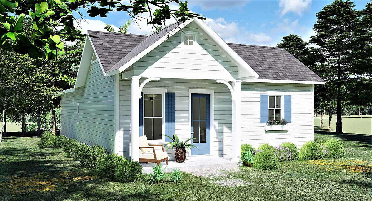 Cottage, Country, Traditional House Plan 64596 with 3 Beds, 2 Baths Elevation