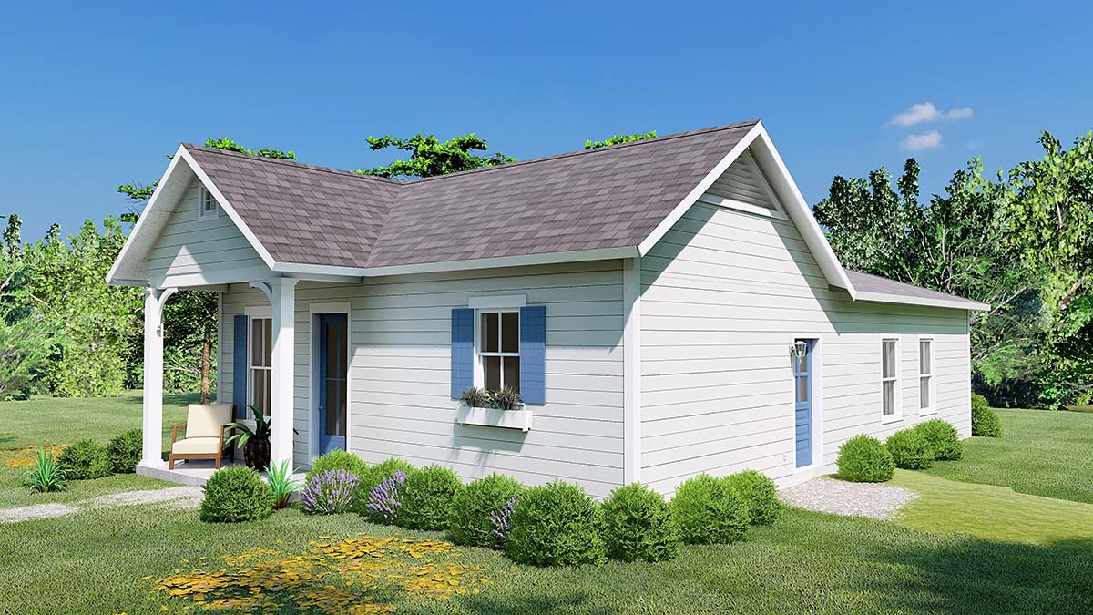 Traditional, Country, Cottage, House Plan 64596 with 3 Beds, 2 Baths