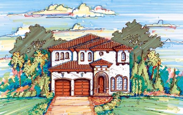 Florida Mediterranean House Plan 64627 Elevation