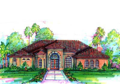 Florida Mediterranean House Plan 64628 Elevation