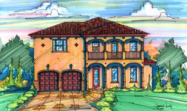 Mediterranean House Plan 64630 Elevation