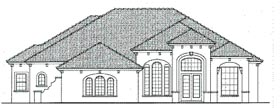 Mediterranean House Plan 64634 with 4 Beds, 4 Baths, 3 Car Garage Elevation