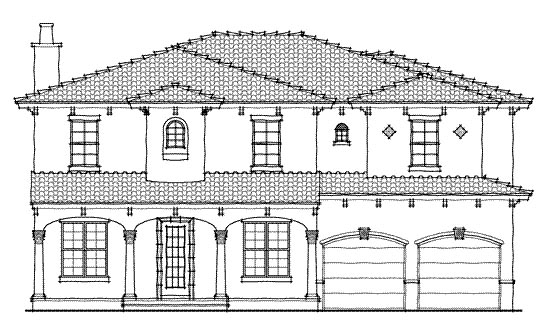 Mediterranean House Plan 64635 with 4 Beds, 4 Baths, 2 Car Garage Elevation