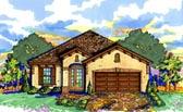 House Plan 74275 Mediterranean Style Plan With 1500 Sq