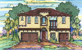 Italian House Plan 64640 Elevation
