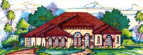 Florida Mediterranean House Plan 64641 Elevation
