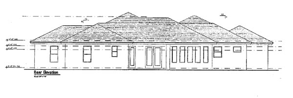 Florida Mediterranean House Plan 64646 Rear Elevation