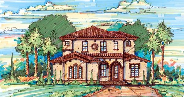 Florida Mediterranean House Plan 64652 Elevation