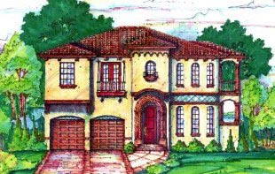 Florida Mediterranean House Plan 64653 Elevation