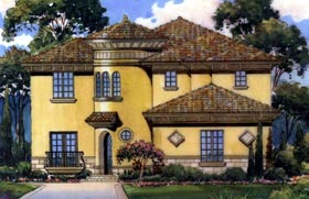 Florida Mediterranean House Plan 64655 Elevation