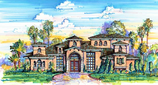 Florida Mediterranean House Plan 64663 Elevation