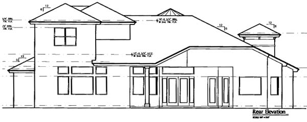 Florida Mediterranean House Plan 64663 Rear Elevation