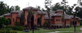 House Plan 64664 | Florida Mediterranean Style Plan with 3873 Sq Ft, 3 Bedrooms, 3 Bathrooms, 3 Car Garage Elevation