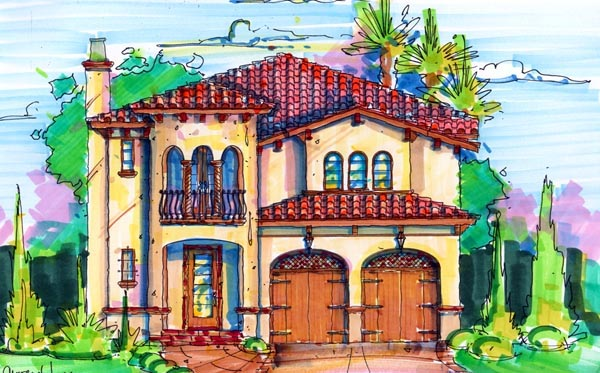 Florida Mediterranean House Plan 64665 Elevation