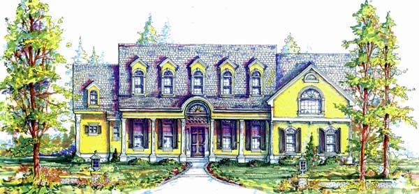 Traditional House Plan 64668 Elevation