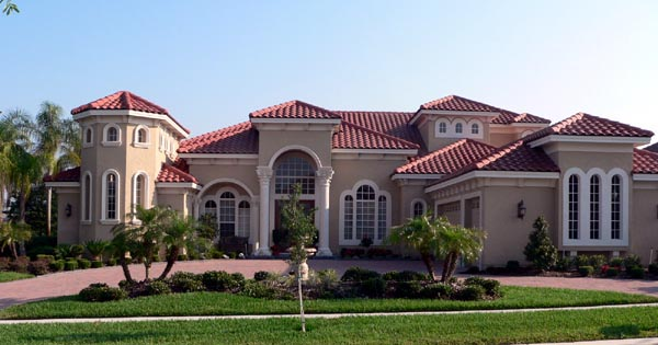 Florida, Italian, Mediterranean House Plan 64674 with 4 Beds , 5 Baths , 3 Car Garage Elevation