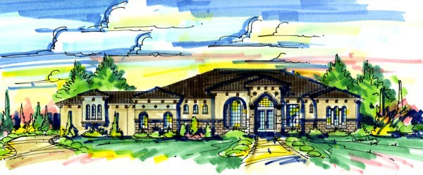 Florida Mediterranean House Plan 64675 Elevation