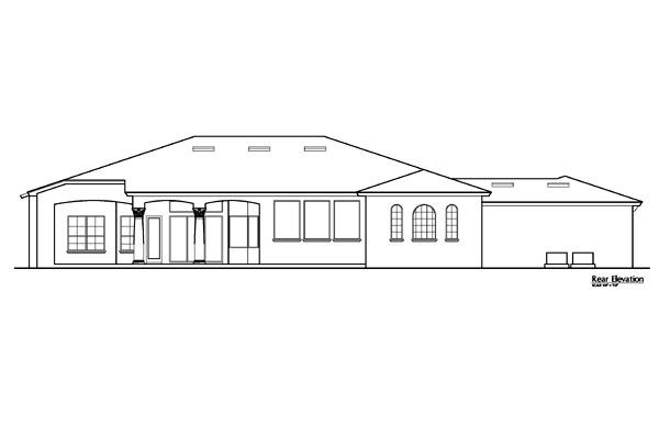 Florida Mediterranean House Plan 64675 Rear Elevation