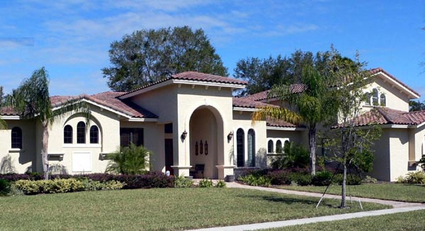 Florida Mediterranean House Plan 64676 Elevation