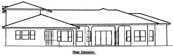 Florida Mediterranean House Plan 64676 Rear Elevation
