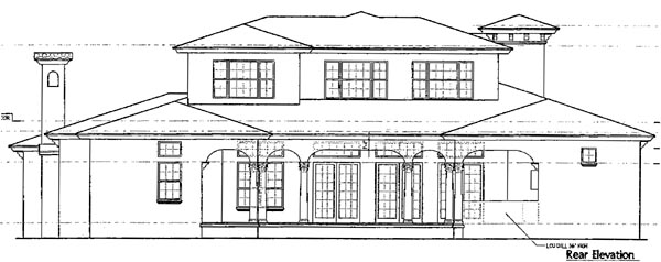 Florida Mediterranean House Plan 64680 Rear Elevation