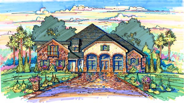 Traditional House Plan 64686 Elevation