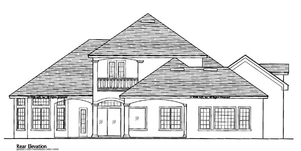 Traditional House Plan 64686 Rear Elevation