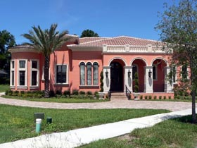 House Plan 64689 | Florida Mediterranean Style Plan with 4280 Sq Ft, 4 Bedrooms, 5 Bathrooms, 3 Car Garage Elevation