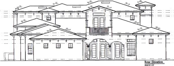 Mediterranean House Plan 64694 Rear Elevation