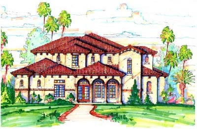 Florida Mediterranean House Plan 64695 Elevation