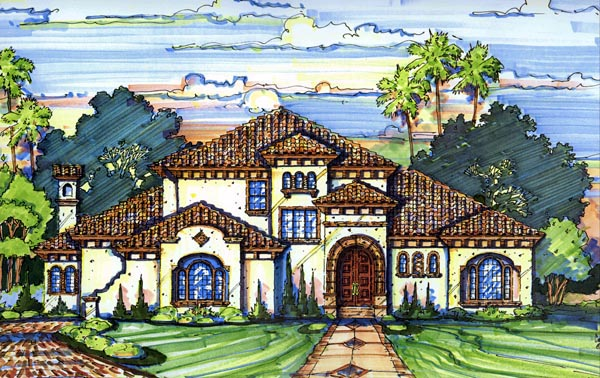 Florida House Plan 64697 Elevation