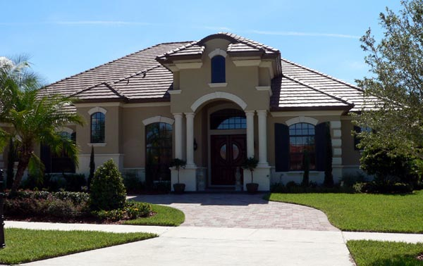 House Plan 64701 | Florida Mediterranean Style Plan with 4491 Sq Ft, 4 Bedrooms, 5 Bathrooms, 3 Car Garage Elevation