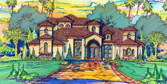 Florida Mediterranean House Plan 64703 Elevation