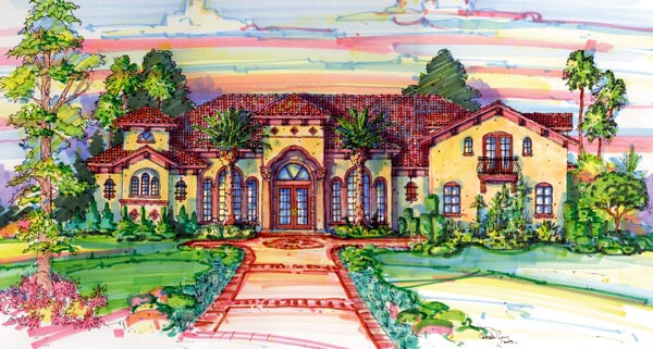 Florida Mediterranean House Plan 64705 Elevation