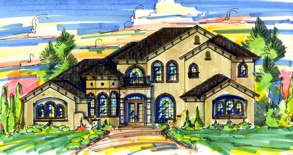 Florida Mediterranean House Plan 64708 Elevation
