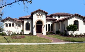 House Plan 64709 | Florida Mediterranean Style Plan with 4679 Sq Ft, 3 Bedrooms, 5 Bathrooms, 3 Car Garage Elevation