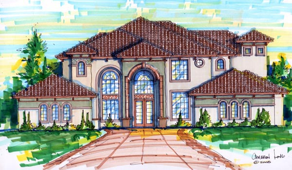 House Plan 64712 Elevation