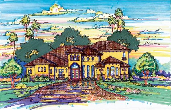 Florida Mediterranean House Plan 64713 Elevation