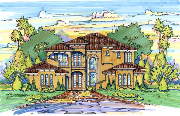 Florida Mediterranean House Plan 64717 Elevation