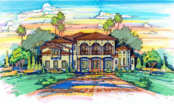 Florida Mediterranean House Plan 64719 Elevation