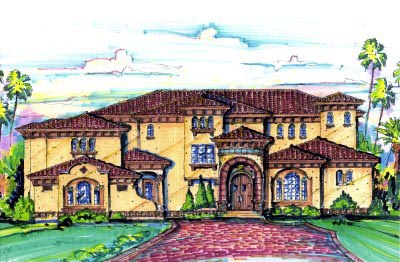 Florida Mediterranean House Plan 64724 Elevation