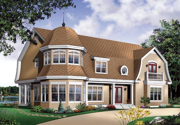 Victorian House Plan 64800 with 4 Beds, 4 Baths, 3 Car Garage Elevation