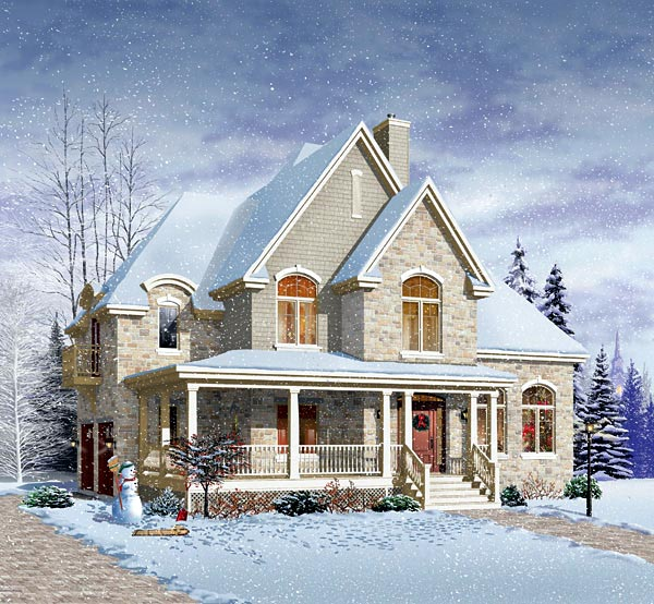 Victorian House Plan 64802 with 4 Beds, 3 Baths, 2 Car Garage Picture 1
