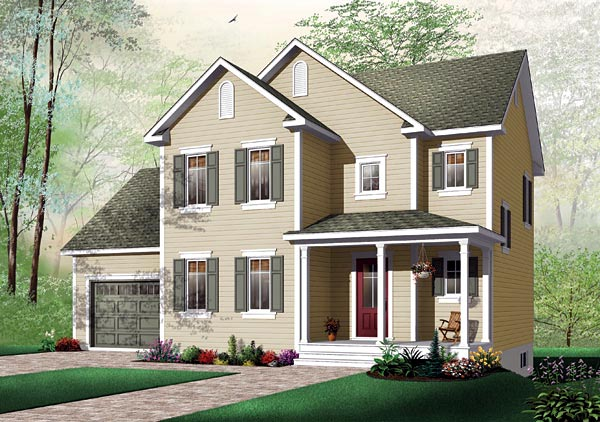 Traditional House Plan 64804 Elevation
