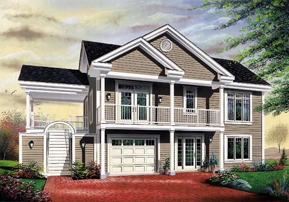 Traditional House Plan 64806 with 3 Beds, 1 Baths, 1 Car Garage Elevation