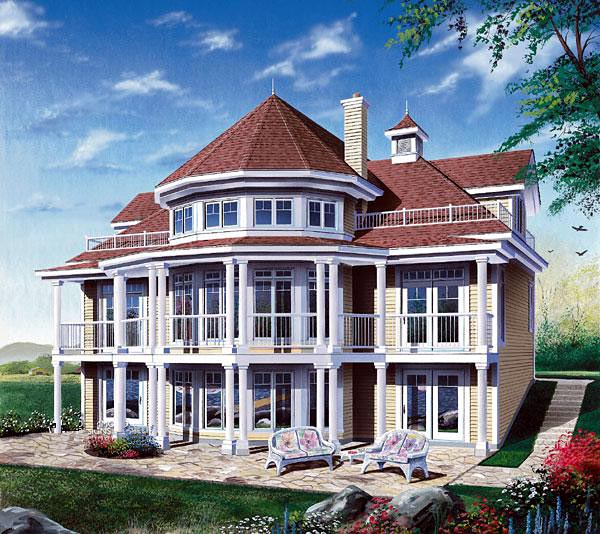 Coastal, Victorian House Plan 64807 with 4 Beds, 2 Baths, 1 Car Garage Front Elevation