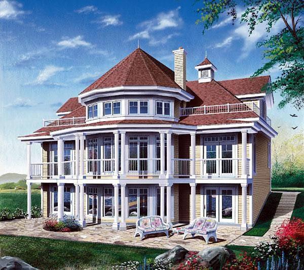 Coastal Victorian House Plan 64807 Elevation