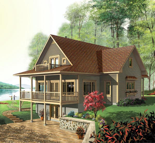 Country, Craftsman House Plan 64808 with 3 Beds , 4 Baths Elevation